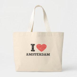 I Love Amsterdam Large Tote Bag