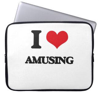 I Love Amusing Laptop Sleeve