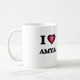 I Love Amya Basic White Mug