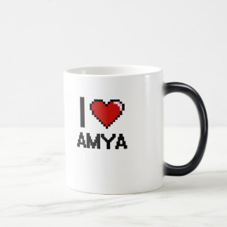 I Love Amya Digital Retro Design Morphing Mug