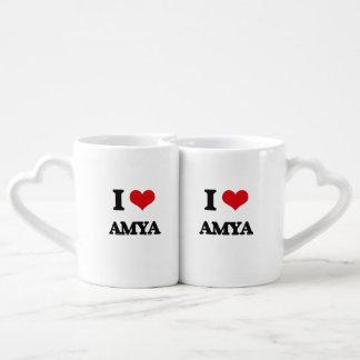 I Love Amya Lovers Mugs