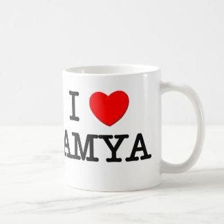 I Love Amya Classic White Coffee Mug