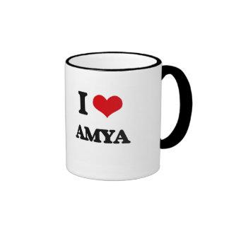 I Love Amya Ringer Mug