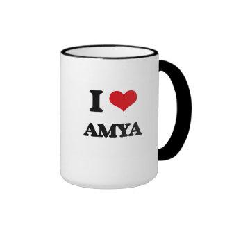 I Love Amya Ringer Coffee Mug