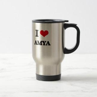I Love Amya 15 Oz Stainless Steel Travel Mug