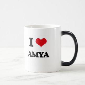 I Love Amya Morphing Mug