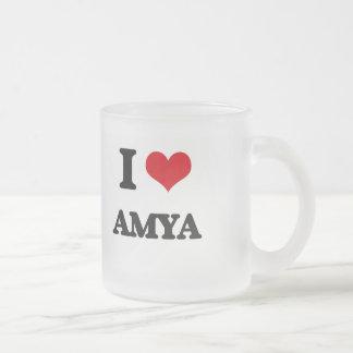 I Love Amya 10 Oz Frosted Glass Coffee Mug