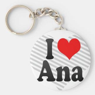 I love Ana Basic Round Button Key Ring