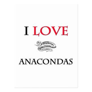 I Love Anacondas Postcard