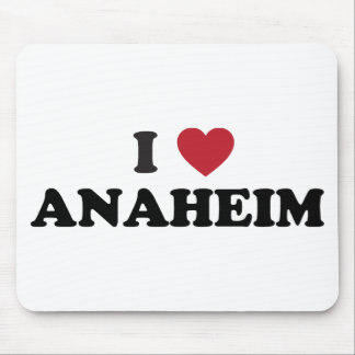 I Love Anaheim California Mouse Pads