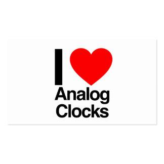 i love analog clocks pack of standard business cards