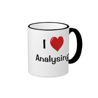 I Love Analysing I Wonder Why? Funny Analyst Quote Ringer Mug