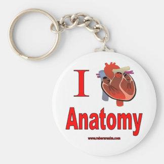I Love Anatomy Keychains