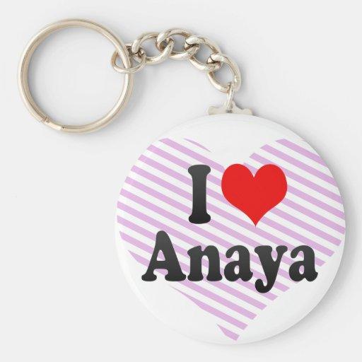 I love Anaya Key Chain