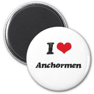 I Love Anchormen Fridge Magnets
