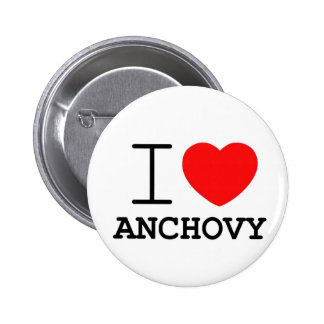 I love anchovy 6 cm round badge