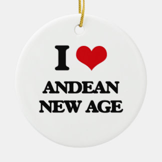 I Love ANDEAN NEW AGE Christmas Ornament