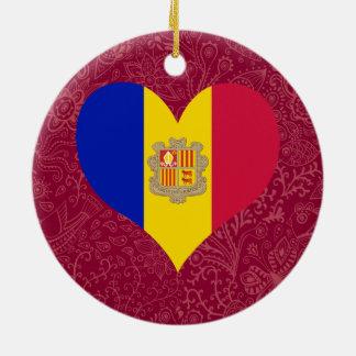 I Love Andorra Round Ceramic Decoration