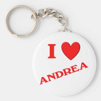 I Love Andrea Key Chains