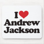 I Love Andrew Jackson Mouse Mats