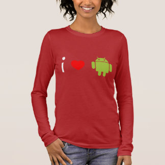 I Love Android Long Sleeve T-Shirt