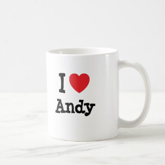 I love Andy heart custom personalized Coffee Mug