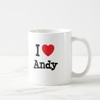 I love Andy heart custom personalized Mugs