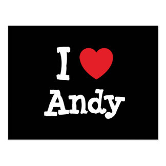 I love Andy heart custom personalized Post Card