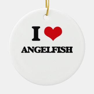 I love Angelfish Christmas Ornament