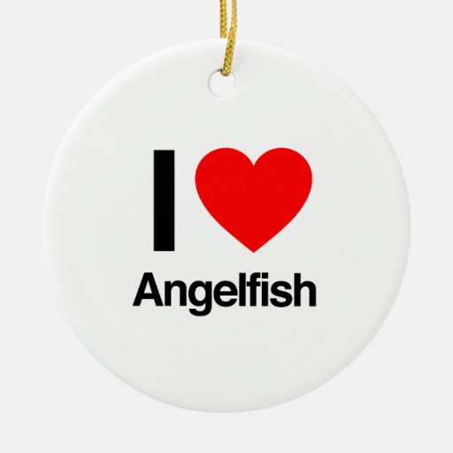 i love angelfish christmas tree ornament