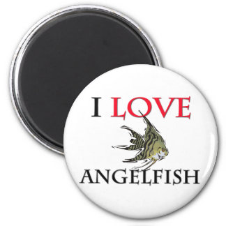 I Love Angelfish Magnet