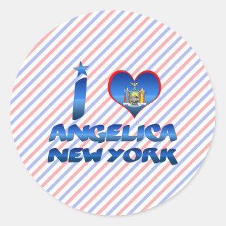 I love Angelica New York Stickers