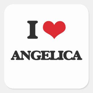 I Love Angelica Square Sticker