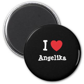 I love Angelika heart T-Shirt Refrigerator Magnets