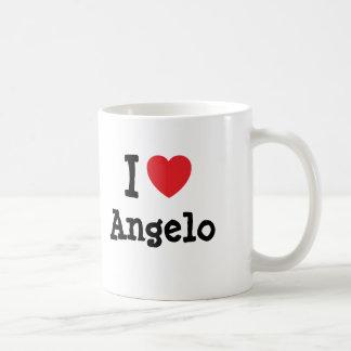 I love Angelo heart custom personalized Basic White Mug