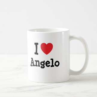I love Angelo heart custom personalized Coffee Mug