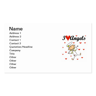 I Love Angels T-shirts and Gifts Pack Of Standard Business Cards