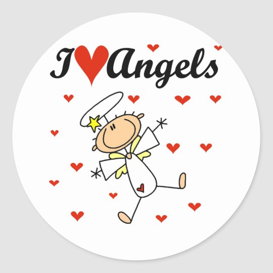 I Love Angels T-shirts and Gifts Classic Round