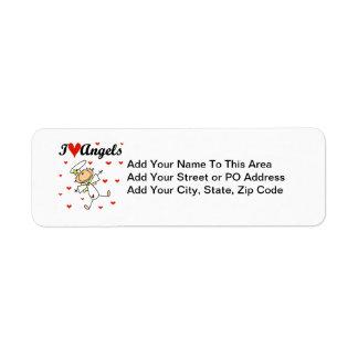 I Love Angels T-shirts and Gifts Return Address Label