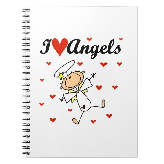 I Love Angels T-shirts and Gifts Notebook