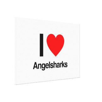i love angelsharks canvas prints
