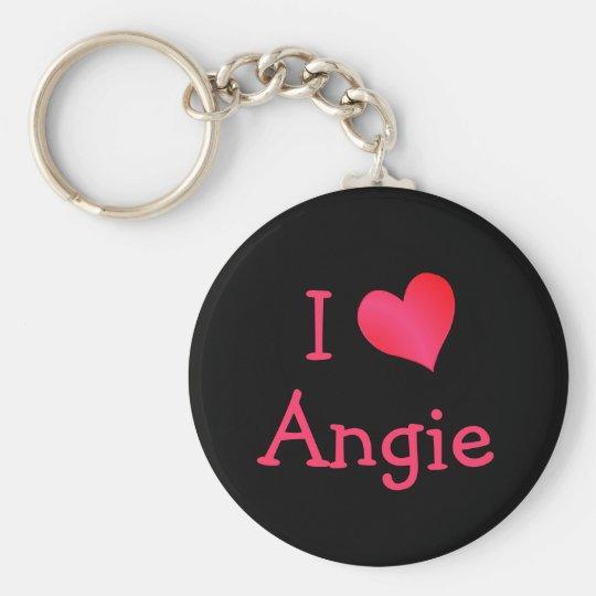 I Love Angie Key Ring