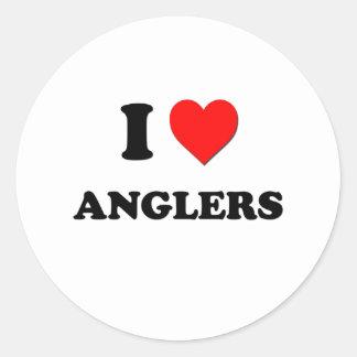 I Love Anglers Sticker