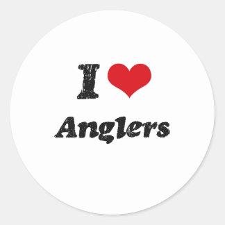 I Love Anglers Stickers