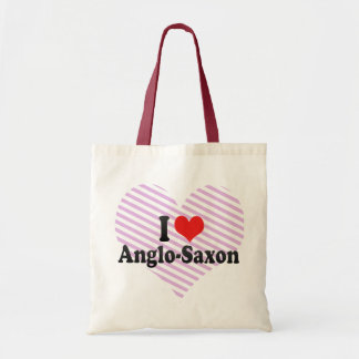 I Love Anglo-Saxon Tote Bags