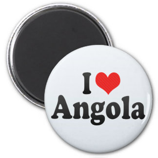 I Love Angola 6 Cm Round Magnet