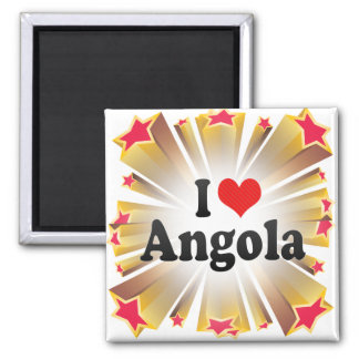I Love Angola Refrigerator Magnets