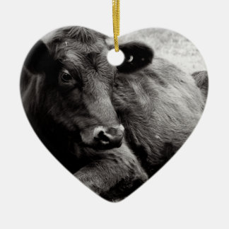 I love Angus Beef Cow Christmas Ornament