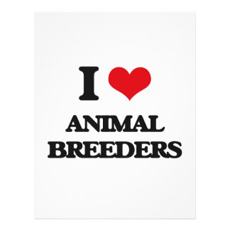 I love Animal Breeders Personalized Flyer