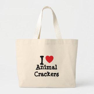 I love Animal Crackers heart T-Shirt Canvas Bag